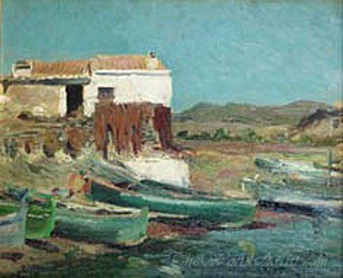 Paisaje Con Barcas  (Landscape With Boats)