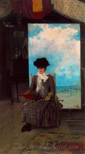 Retrato De Dolores La Primera Esposa Del Pintor  (Portrait Of Dolores The First Wife Of Painter)