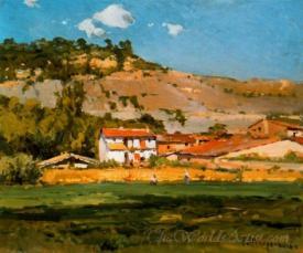 Paisaje Con Pueblo  (Landscape With Town)