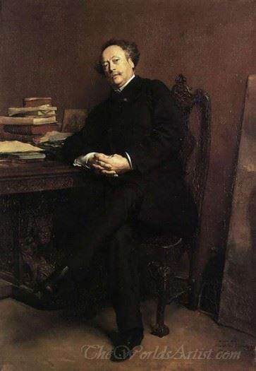 Portrait Of Alexandre Dumas Jr
