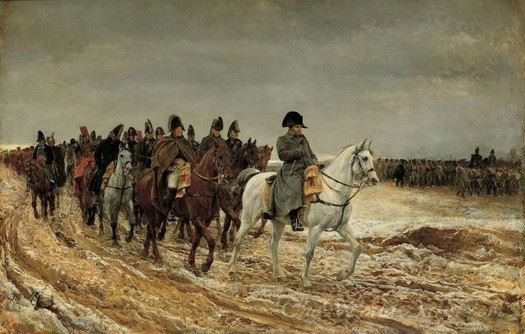 Napoleon And His Staff Retuning From Soissons After The Battle Of Laon