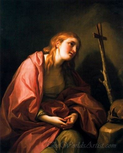 St Mary Magdalene Penitent With A Cross