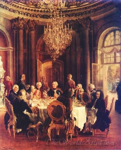 Round Table Of Frederic The Great At Sanssouci