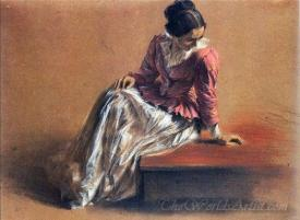 A Seated Woman The Artists Sister Emilie