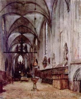 Chorus Of The Old Abbey Church In Berlin