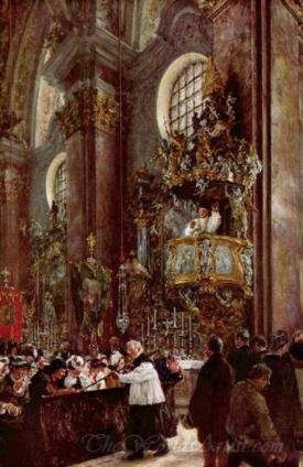 Pulpit Sermon At The Church At Innsbruck
