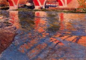 El Manzanares Bajo El Puente De Los Franceses  (The Manzanares Under The Bridge Of The French)