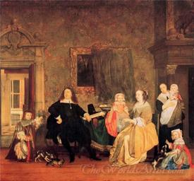 Burgomaster Gillis Valckenier And His Family