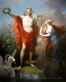 Apollo God Of Light With Urania