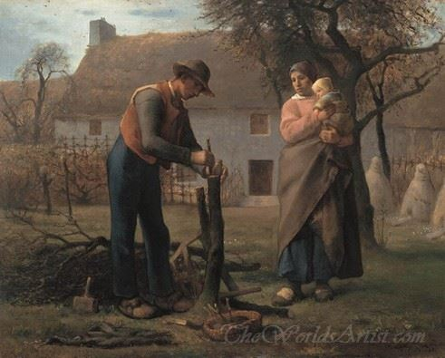 Farmer Inserting A Graft On A Tree