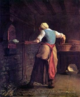 Woman Baking Bread