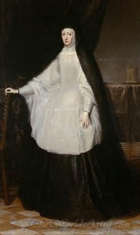 Archduchess Maria Anna Queen Of Spain As A Widow