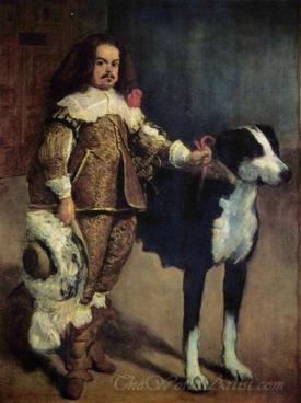 Court Dwarf With A Dog
