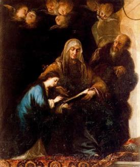 Santa Ana Dando Leccion A La Virgen  (Santa Ana Giving Lesson To The Virgin)