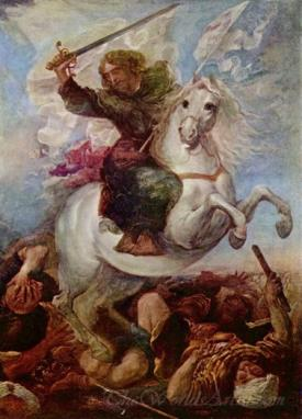 St James The Great In The Battle Of Clavijo