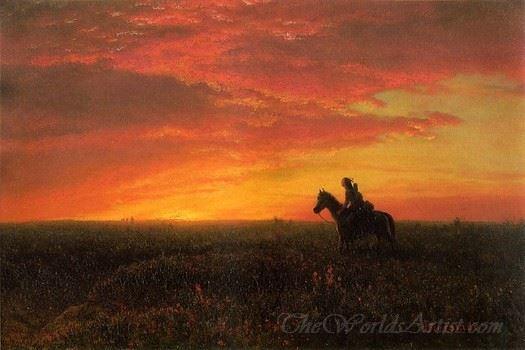 On The Plains Sunset