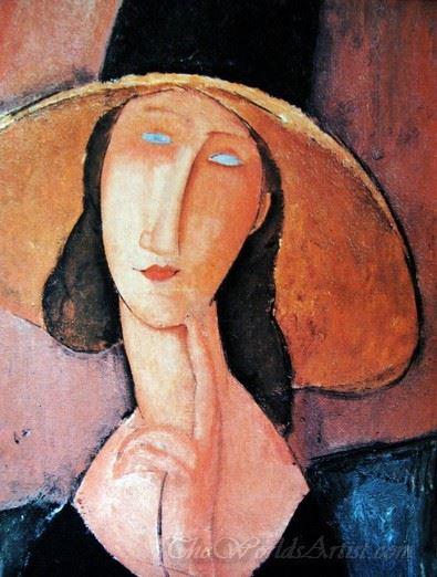 Jeanne Hebuterne In A Large Hat
