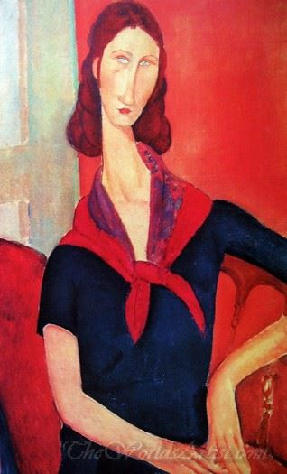 Jeanne Hebuterne In A Scarf