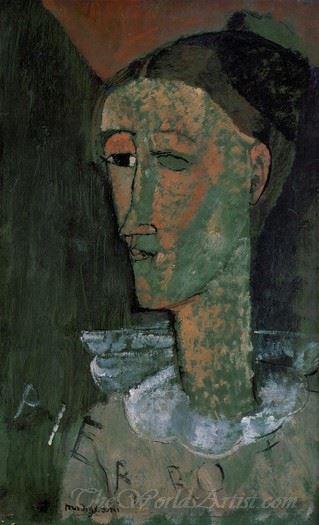 Self Portrait As Pierrot