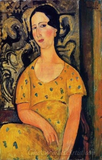 Young Woman In A Yellow Dress Madame Modot