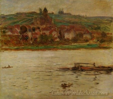 Barge On The Seine At Vetheuil