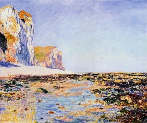 Beach And Cliffs At Pourville Morning Effect