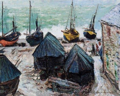 Boats On The Beach Etretat