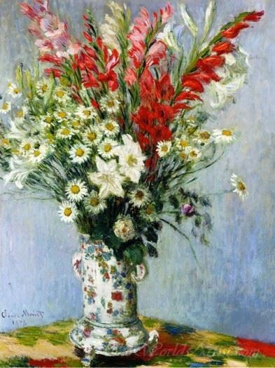 Bouquet Of Gladiolas Lilies And Dasies