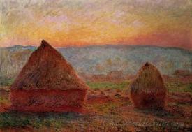 Grainstacks Sunset
