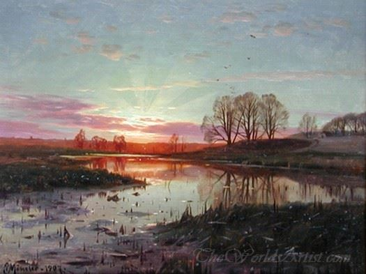 Evening At Naesbyholm