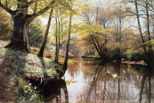 Flodlandskab  (River Landscape)