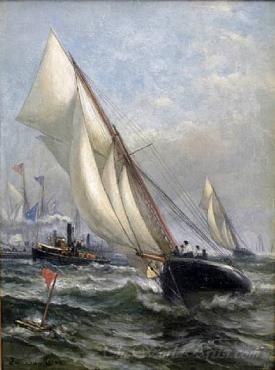 Puritan Vs Genesta Americas Cup 1885