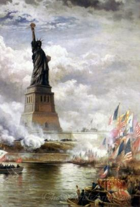 Unveiling The Statue Of Liberty Enlightening The World 1886