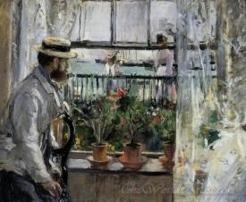 Eugene Manet The Artists Husband On The Isle Of Wight