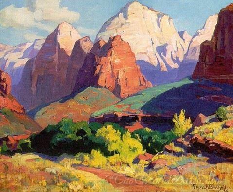 Pinnacle Rock Zion National Park In Utah