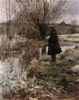 Sir Alfred Pike Fishing In January