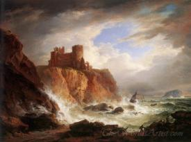 View Of Tantallon Castle And The Bass Rock
