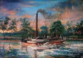 The Paddle Steamer Comet