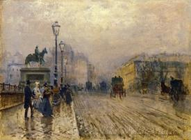 Rue De Paris With Carriages
