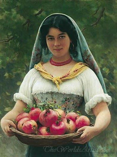 Girl With Pomegranates