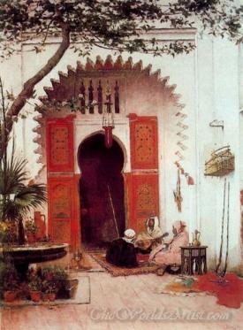Three Arabs In A Court