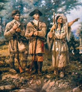Lewis And Clark At Three Forks