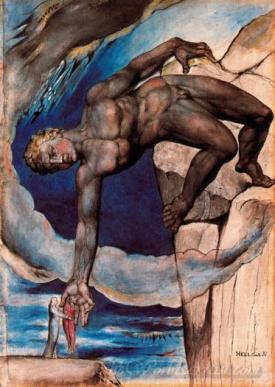 Anteo Conduce A Dante Y Virgilio Al Final Del Noveno Circulo  (Antaeus Leads Dante And Virgil At The End Of The Ninth Circle)