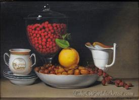 Still Life Stawberries Nuts