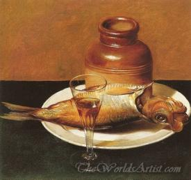 Still Life With Jug And Fish