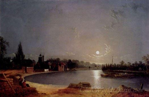 The Thames At Moonlight Twickenham