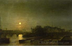 Moonlight Over The Seine