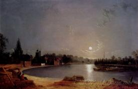 The Thames At Moonlight Twickenham