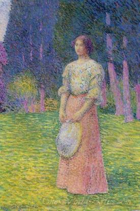 Woman In A Garden