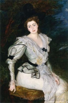 Portrait Of Baronne In Louis Xvi Costume